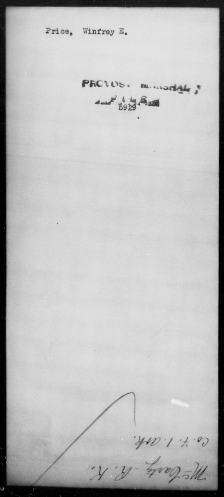 Price, Winfrey E - State: [Blank] - Year: [Blank]