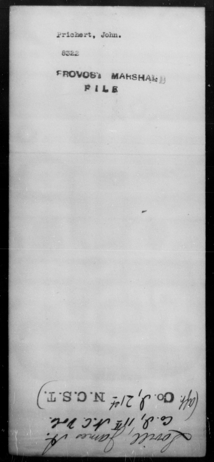Prichert, John - State: [Blank] - Year: [Blank]