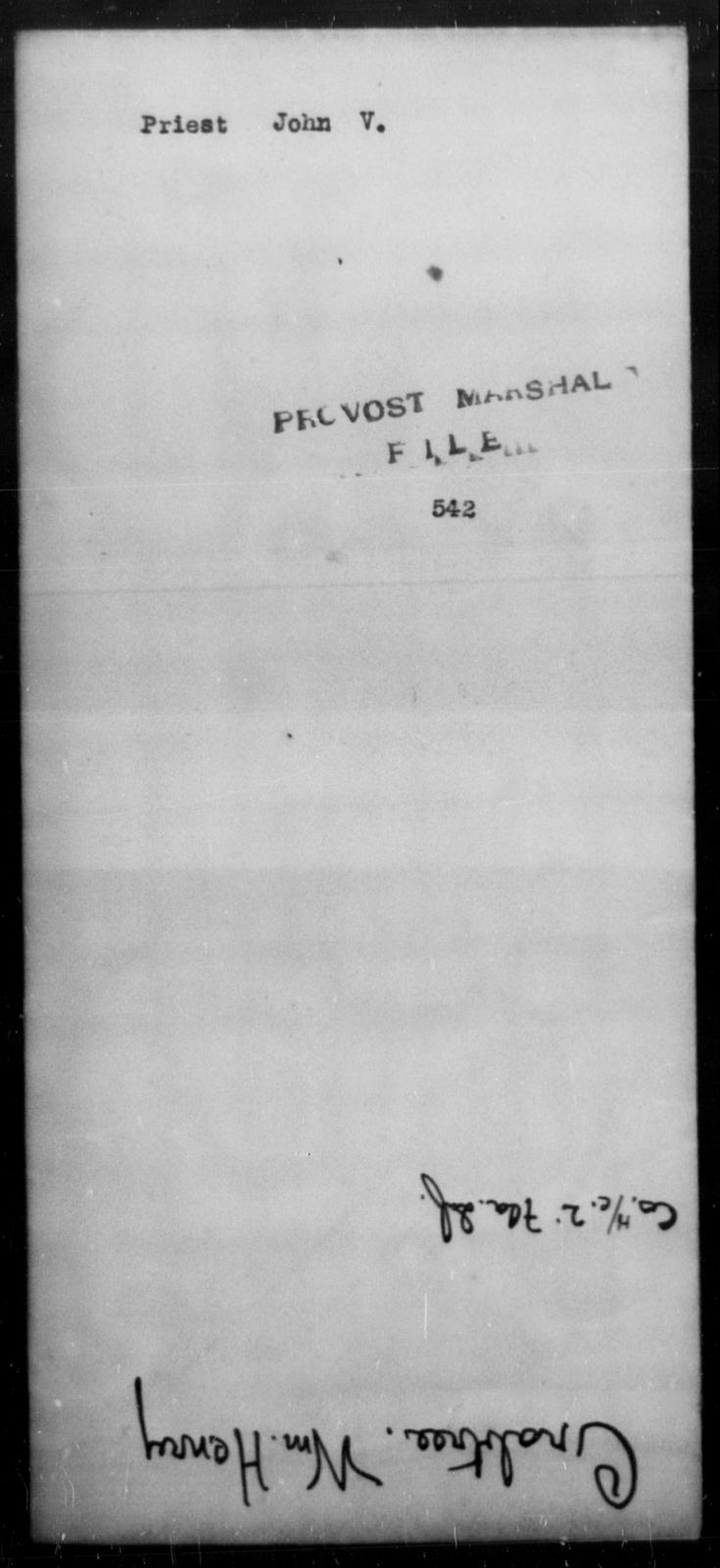 Priest, John V - State: [Blank] - Year: [Blank]