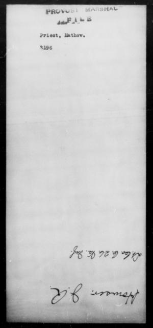Priest, Mathew - State: [Blank] - Year: [Blank]
