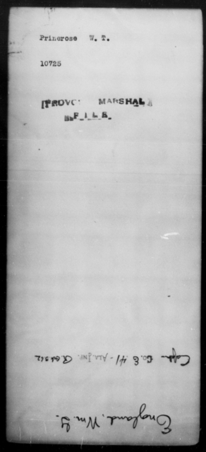 Prinerose, W T - State: [Blank] - Year: [Blank]
