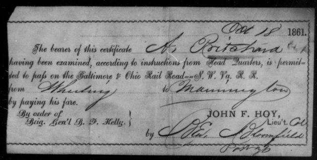Pritchard, A - State: [Blank] - Year: 1861