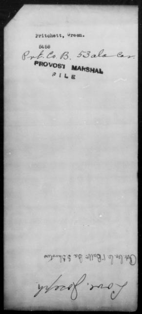Pritchett, Green - State: [Blank] - Year: [Blank]
