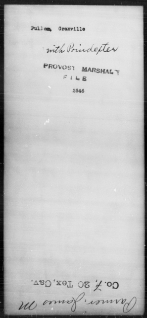 Pullam, Granville - State: [Blank] - Year: [Blank]