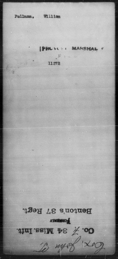 Pullman, William - State: [Blank] - Year: [Blank]