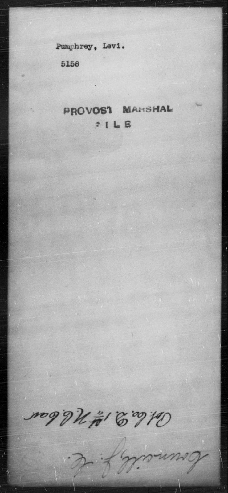 Pumphrey, Levi - State: [Blank] - Year: [Blank]