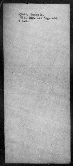 Pyler, James H - State: Virginia - Year: [Blank]