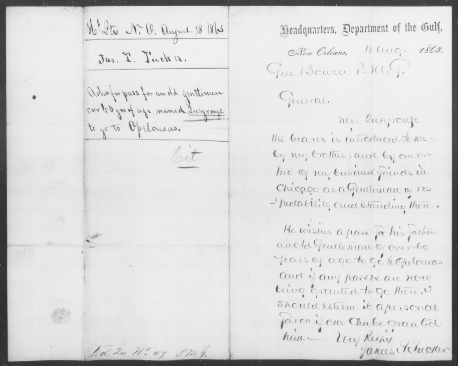 Queyronge, [Blank] - State: [Blank] - Year: 1863