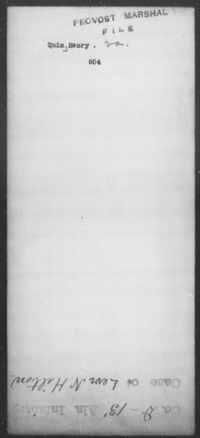 Quimby, Henry - State: Virginia - Year: [Blank]
