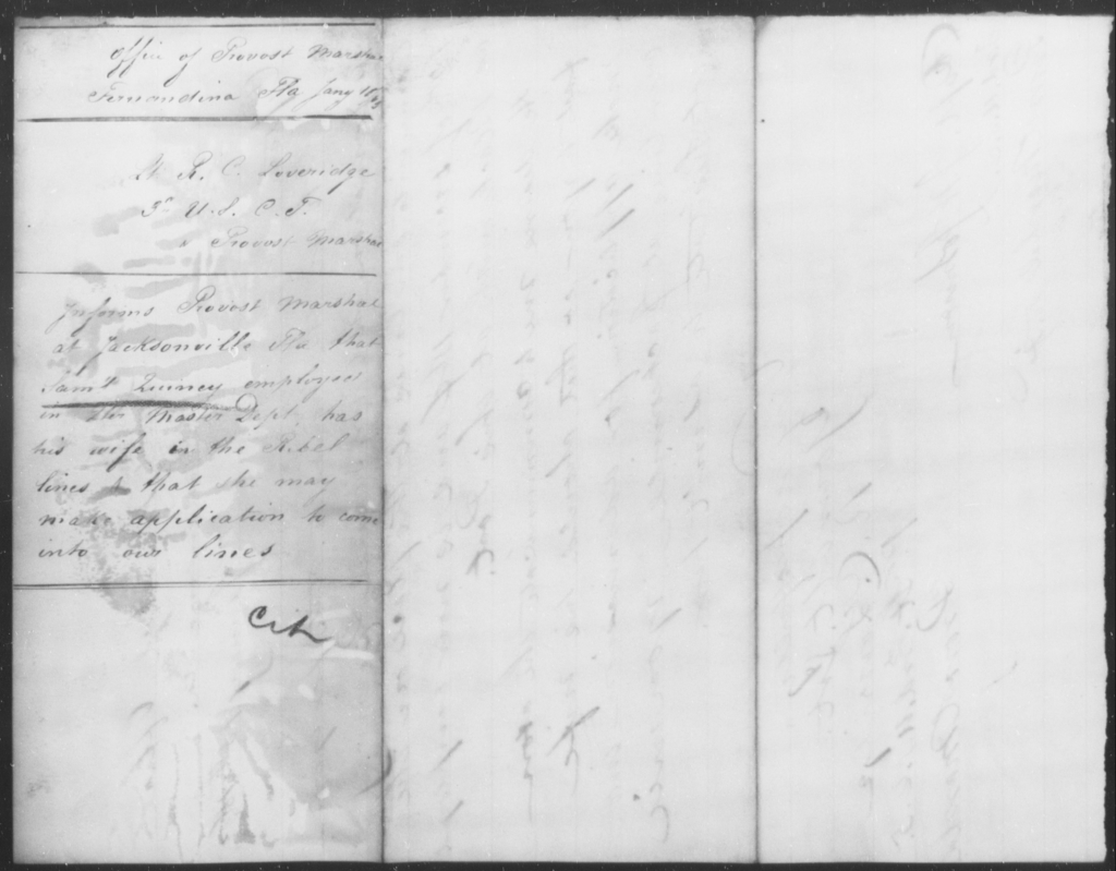 Quincy, Saml - State: Florida - Year: 1865
