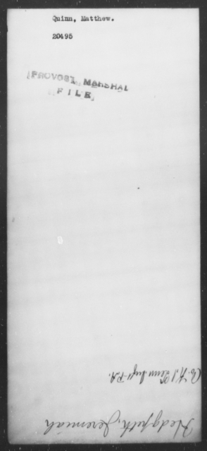 Quinn, Mathew - State: [Blank] - Year: [Blank]
