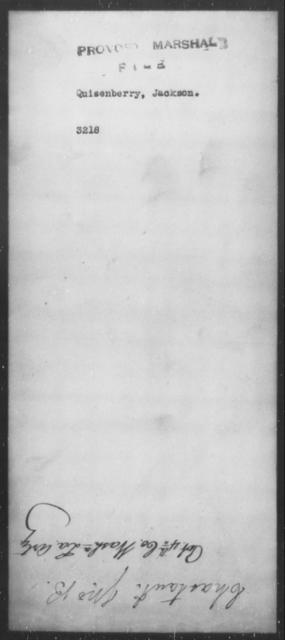 Quisenberry, Jackson - State: [Blank] - Year: [Blank]
