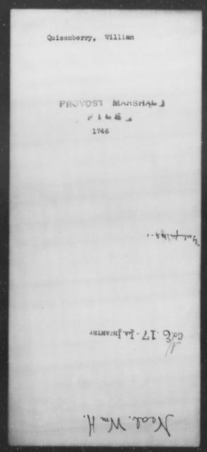 Quisenberry, William - State: [Blank] - Year: [Blank]