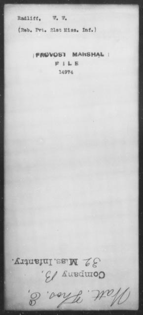 Radliff, W W - State: Mississippi - Year: [Blank]