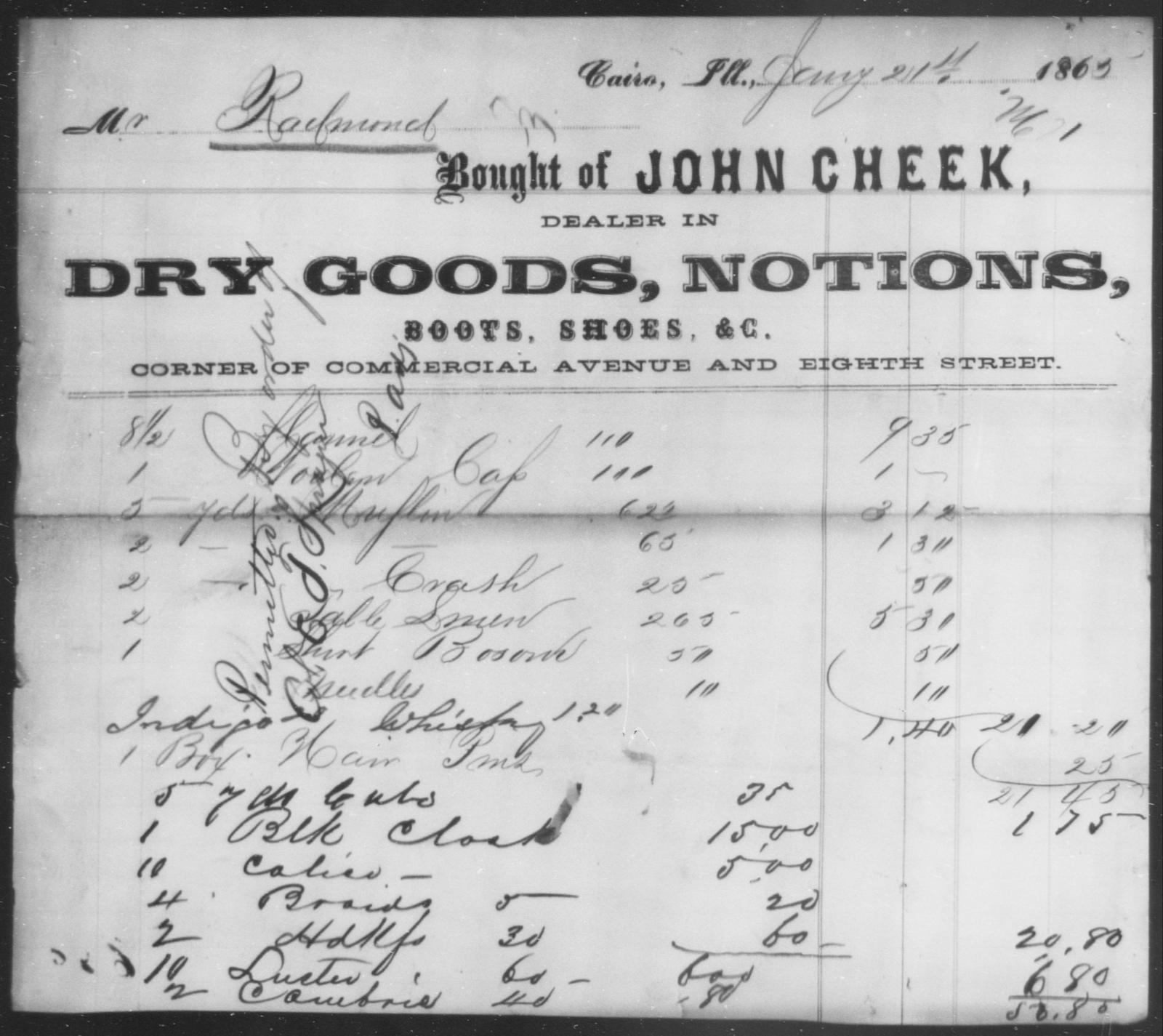 Raelmond, [Blank] - State: Illinois - Year: 1865