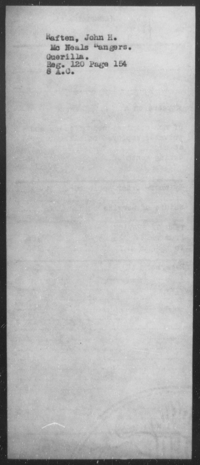 Raften, John H - State: [Blank] - Year: [Blank]