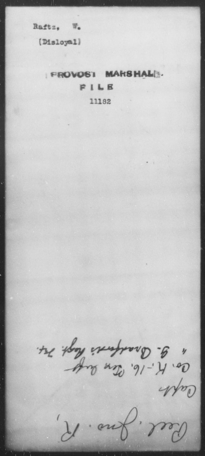 Raftz, W - State: [Blank] - Year: [Blank]