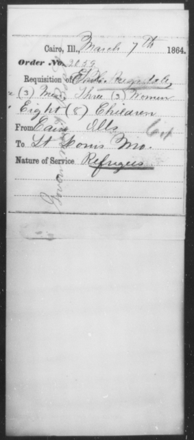 Ragsdale, T H - State: Illinois - Year: 1864