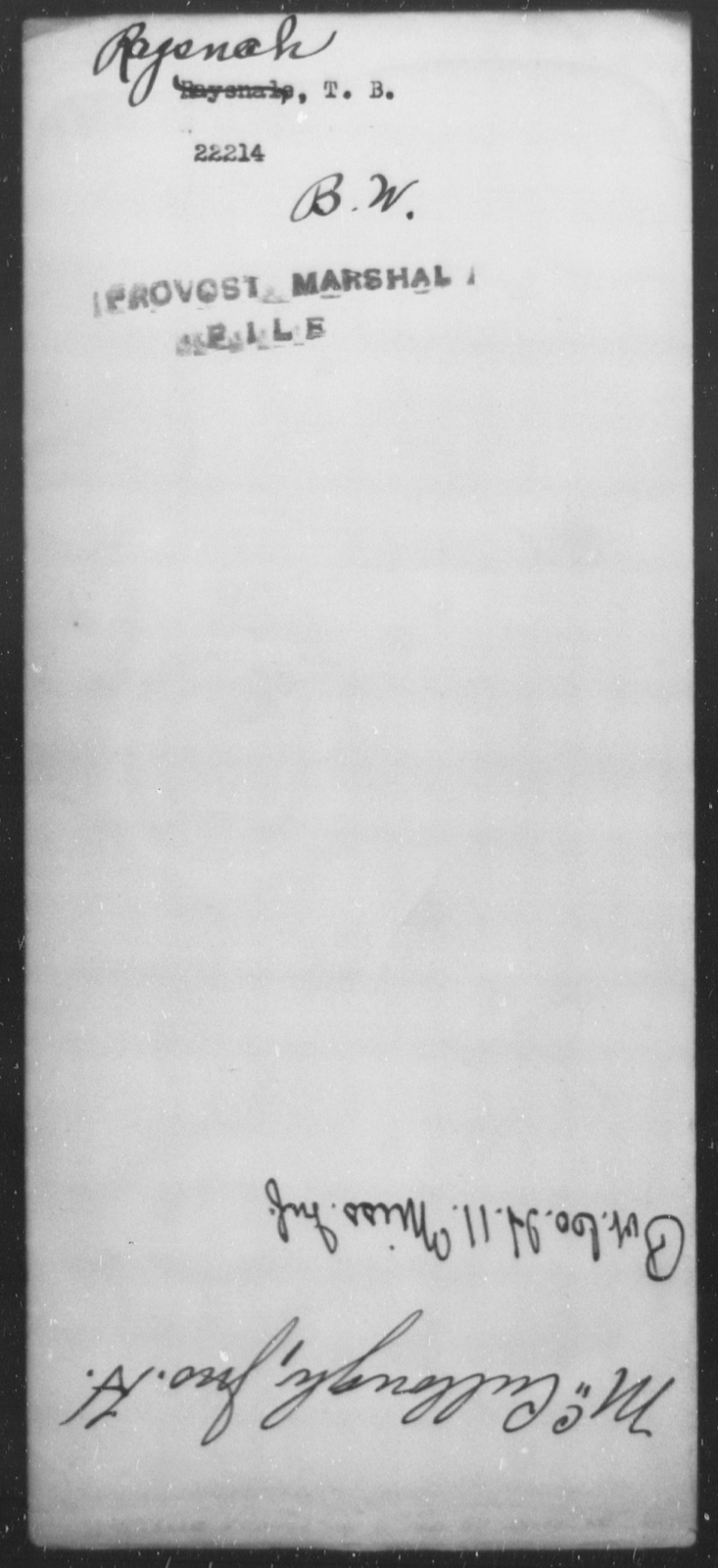 Ragsnch, T B - State: [Blank] - Year: [Blank]
