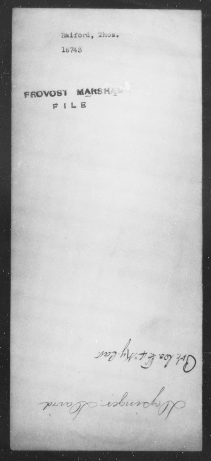 Raiford, Thos - State: [Blank] - Year: [Blank]