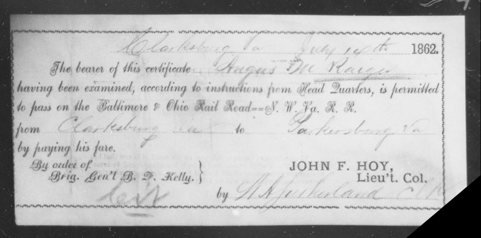 Raige, Angus M - State: Ohio - Year: 1861
