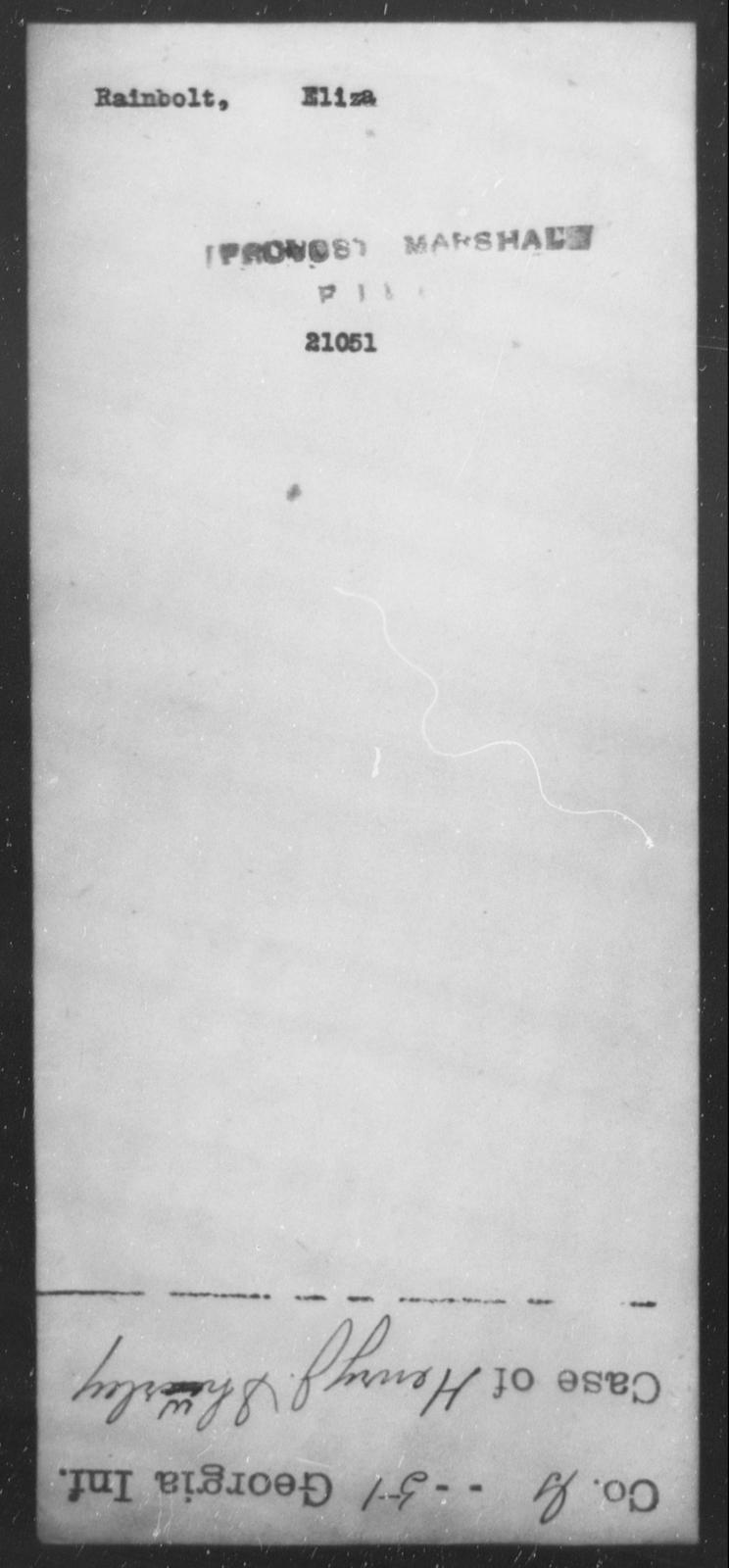Rainbolt, Eliza - State: [Blank] - Year: [Blank]