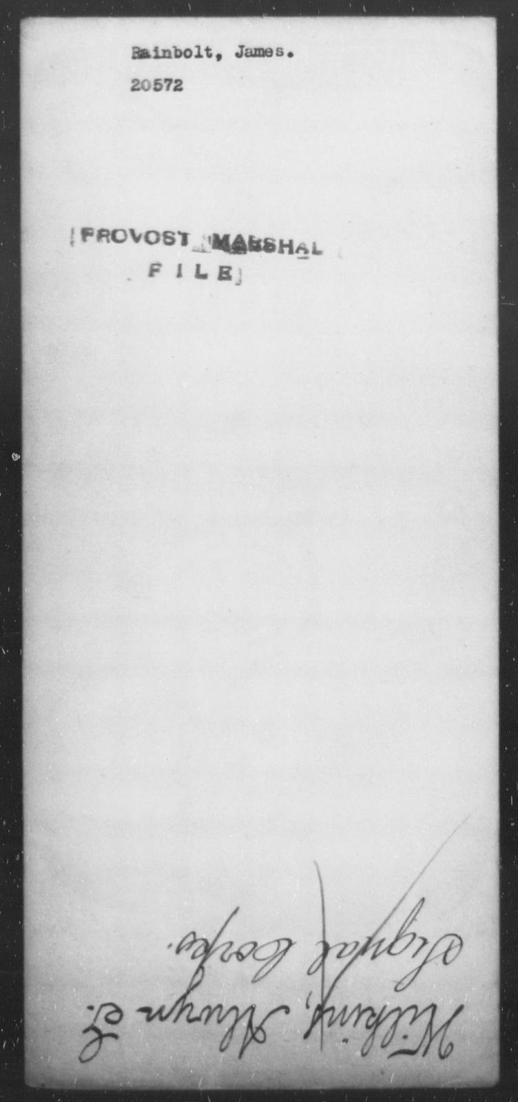 Rainbolt, James - State: [Blank] - Year: [Blank]