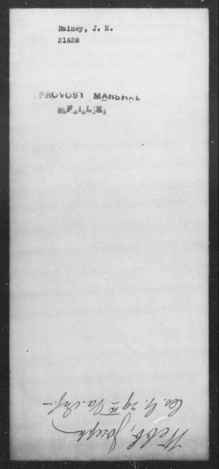 Rainey, J H - State: [Blank] - Year: [Blank]
