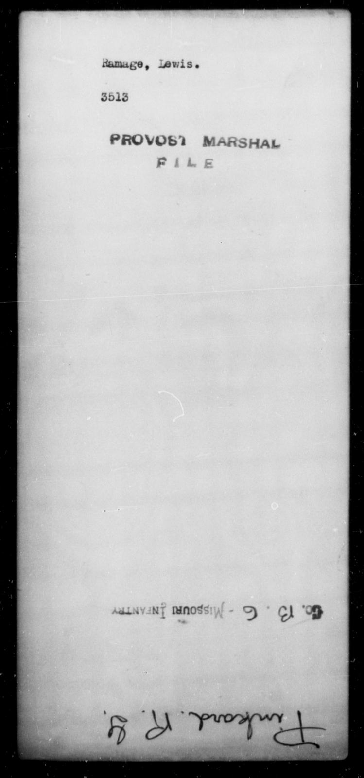 Ramage, Lewis - State: [Blank] - Year: [Blank]
