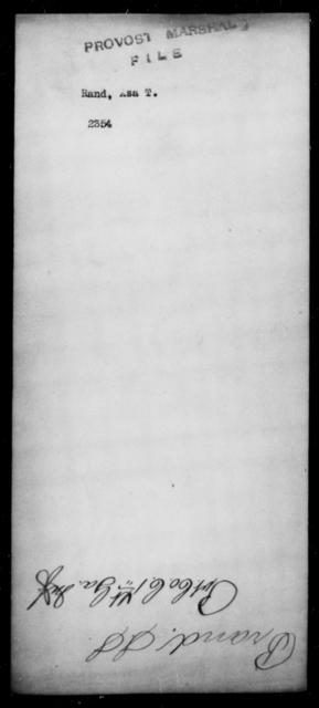 Rand, Asa T - State: [Blank] - Year: [Blank]