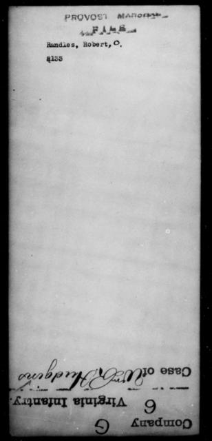 Randles, Robert O - State: [Blank] - Year: [Blank]