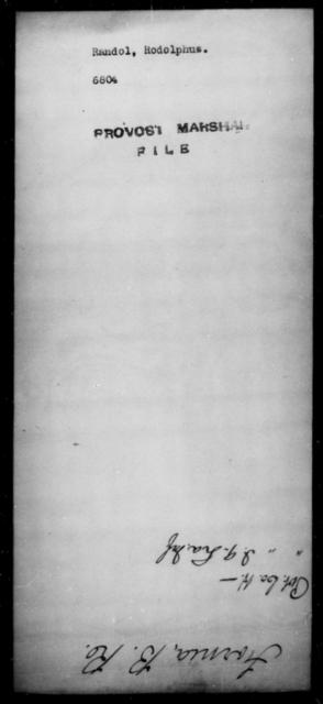 Randol, Rodolphus - State: [Blank] - Year: [Blank]