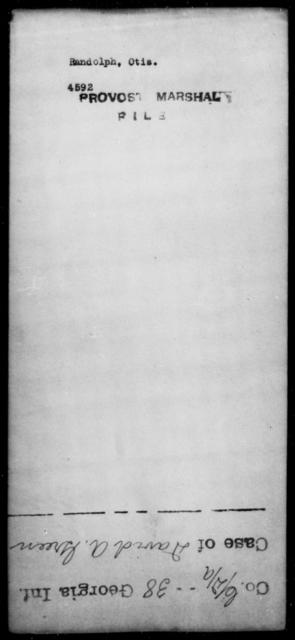 Randolph, Otis - State: [Blank] - Year: [Blank]