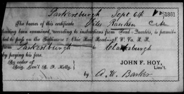 Rankin, Jiles - State: Ohio - Year: 1861