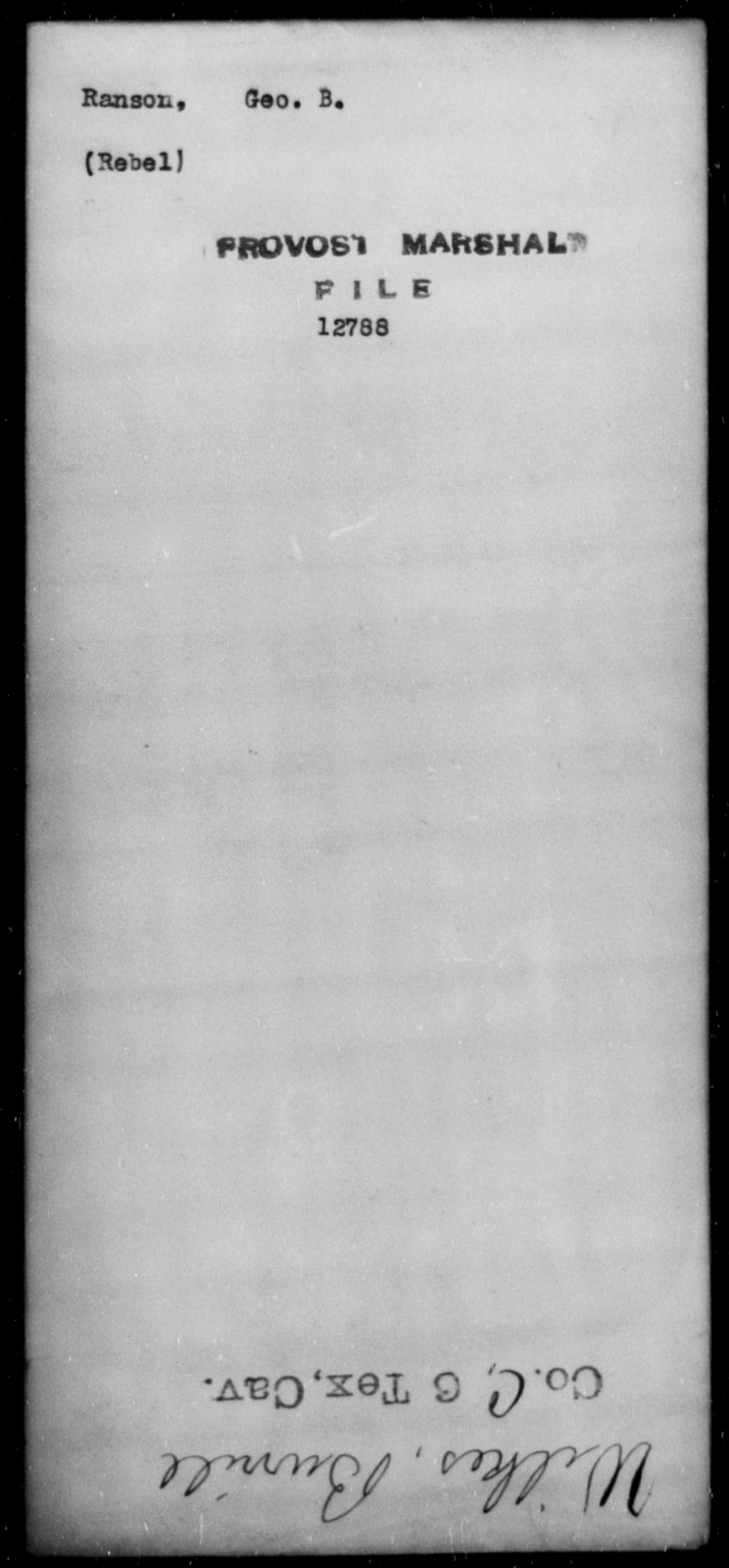 Ranson, Geo B - State: [Blank] - Year: [Blank]