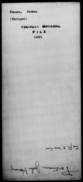 Ranson, Reuben - State: [Blank] - Year: [Blank]