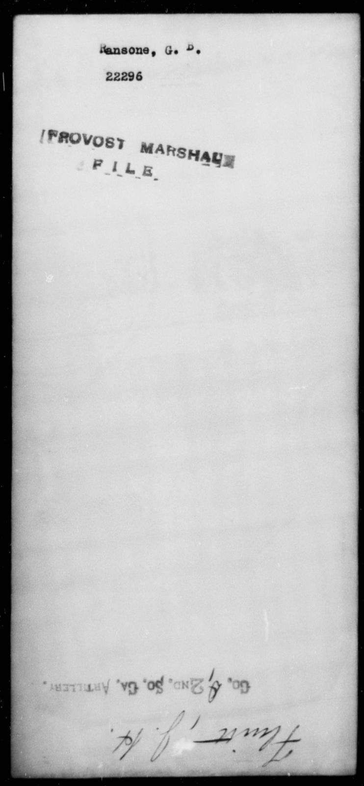 Ransone, G B - State: [Blank] - Year: [Blank]