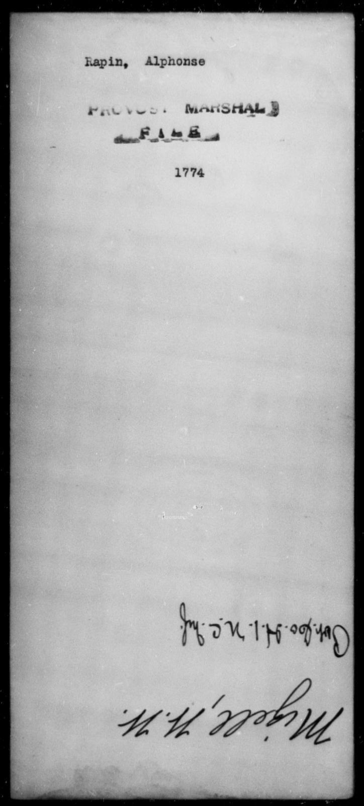 Rapin, Alphonse - State: [Blank] - Year: [Blank]