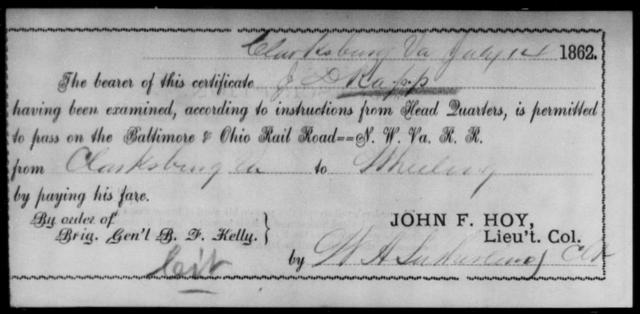 Rapp, J D - State: Virginia - Year: 1862