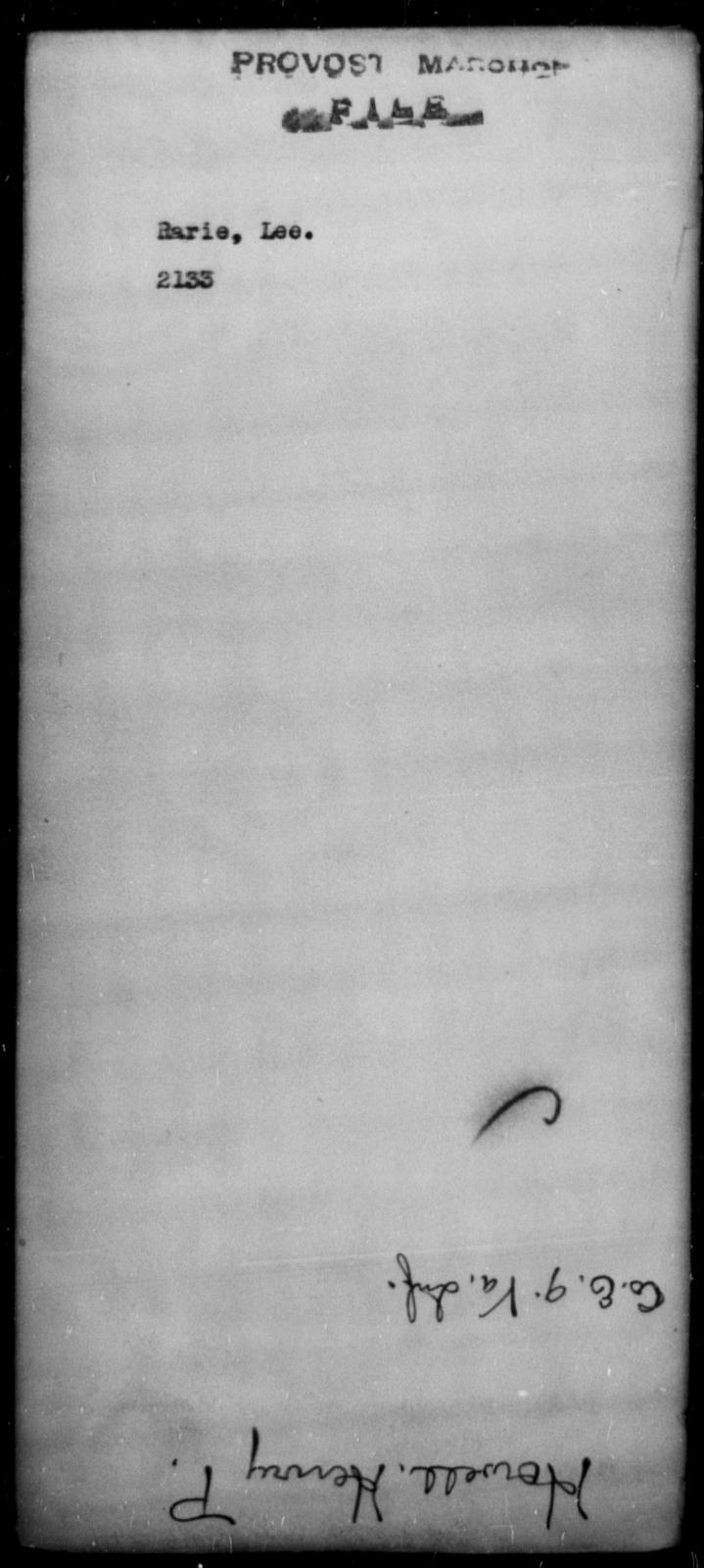 Rarie, Lee - State: [Blank] - Year: [Blank]