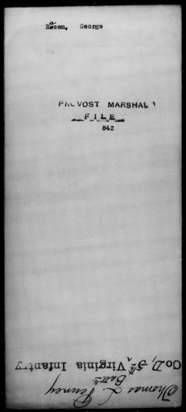 Rasem, George - State: [Blank] - Year: [Blank]