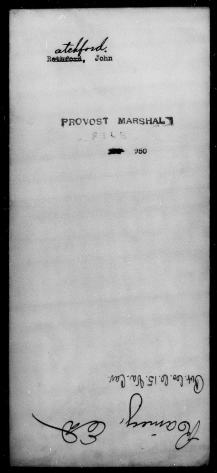 Ratchford, John - State: [Blank] - Year: [Blank]