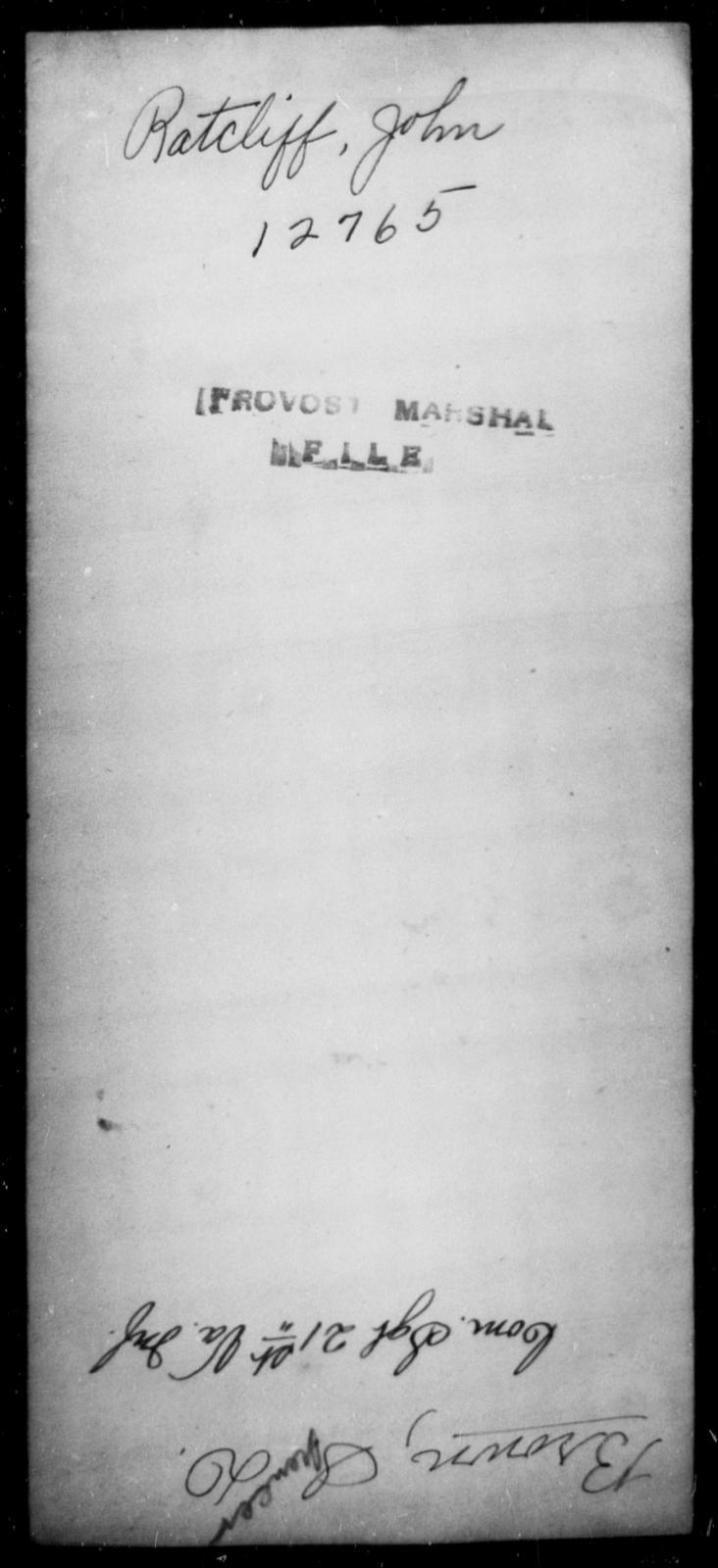 Ratcliff, John - State: [Blank] - Year: [Blank]