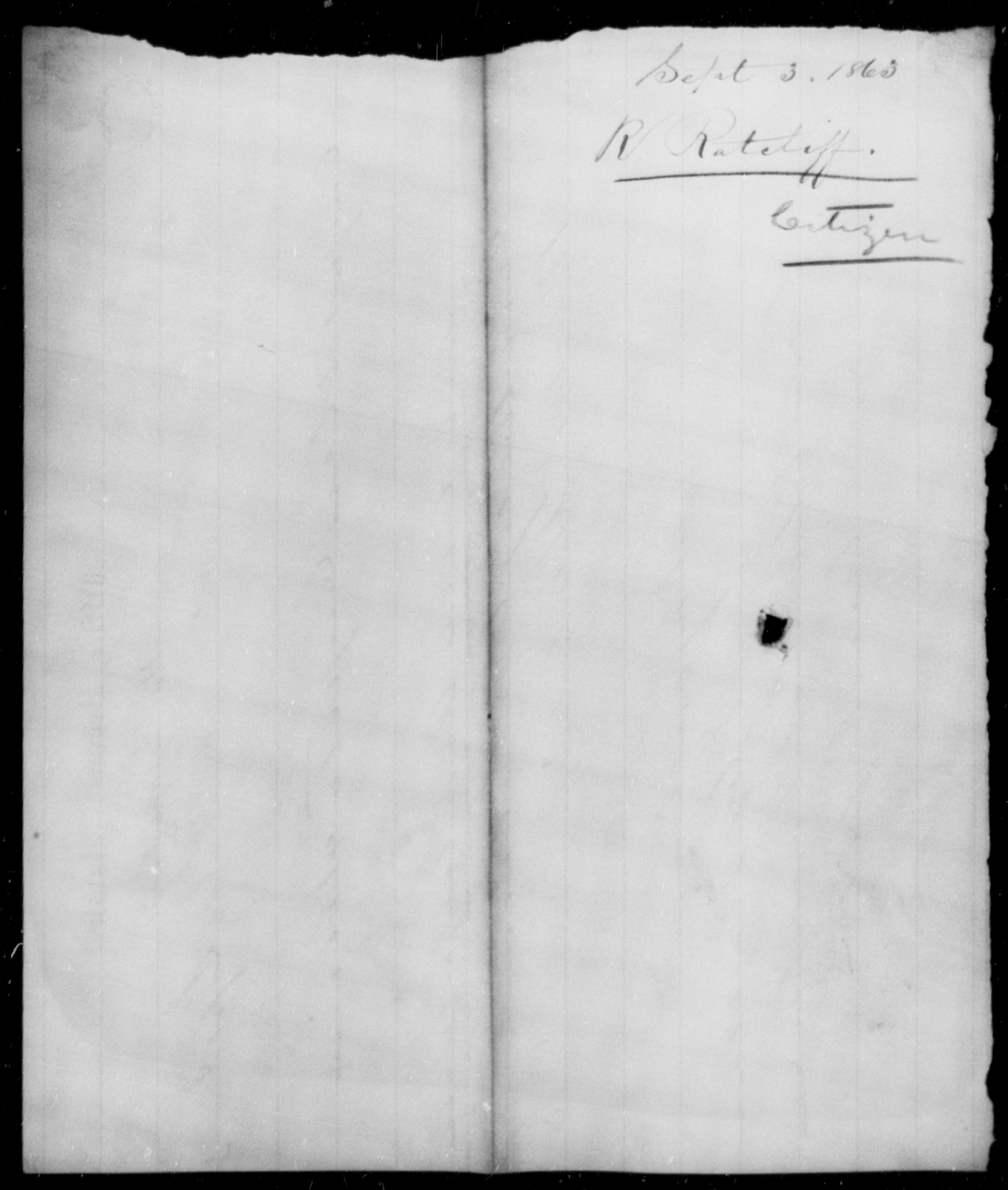 Ratcliff, Robert - State: [Blank] - Year: 1863