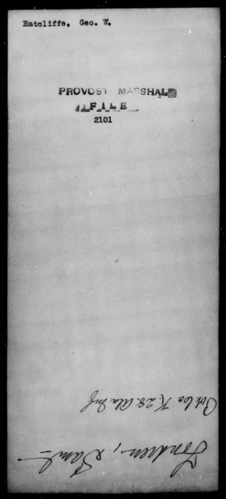 Ratcliffe, Geo W - State: [Blank] - Year: [Blank]