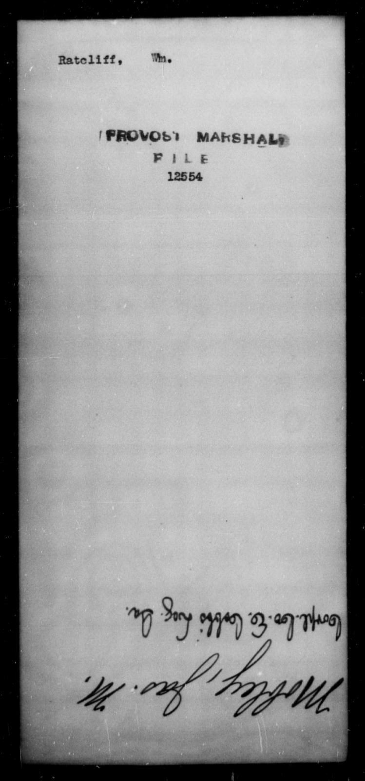 Ratcliffe, Wm - State: [Blank] - Year: [Blank]