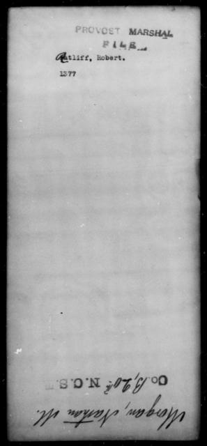 Ratliff, Robert - State: [Blank] - Year: [Blank]