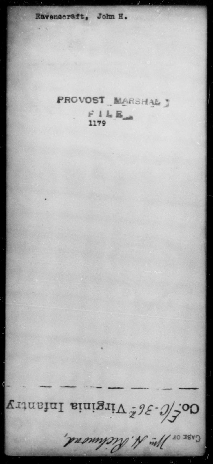 Ravenscraft, John H - State: [Blank] - Year: [Blank]