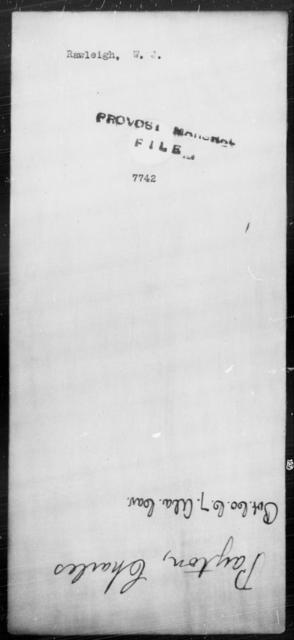 Rawleigh, W J - State: [Blank] - Year: [Blank]