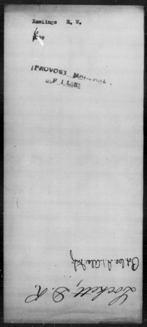 Rawlings, S W - State: [Blank] - Year: [Blank]